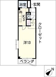 ステューディオ・細野[4階]の間取り