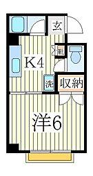 サンコーポ・マスダ[3階]の間取り