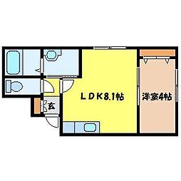 北海道札幌市中央区北一条西25丁目の賃貸マンションの間取り
