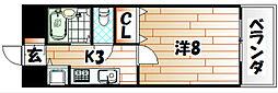 エクレール中井[6階]の間取り