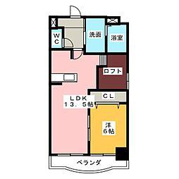 アーバンハイツ[4階]の間取り