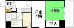 広島県広島市中区本川町3丁目の賃貸マンションの間取り
