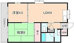 エスタ桜塚A棟[301号室]の間取り