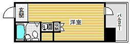 ネオダイキョー三宮[9階]の間取り