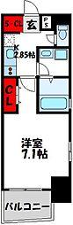 福岡市地下鉄空港線 東比恵駅 徒歩10分の賃貸マンション 8階1Kの間取り