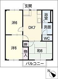 マザーグースII[2階]の間取り