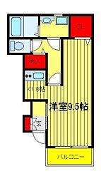 千葉県柏市富里3の賃貸アパートの間取り