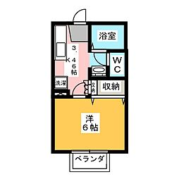 ディアコート野田[1階]の間取り