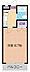 間取り,1K,面積23.43m2,賃料3.7万円,東武東上線 高坂駅 徒歩4分,,埼玉県東松山市元宿1丁目23-18