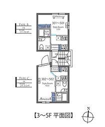 Luxe residence菊川 4階1Kの間取り