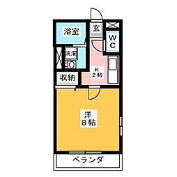 静岡県富士市中丸の賃貸アパートの間取り