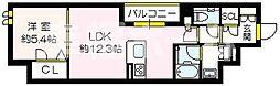 (仮称)セジュール関目6番館 2階1LDKの間取り