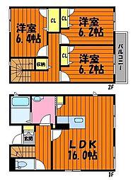 [タウンハウス] 岡山県倉敷市黒崎 の賃貸【/】の間取り