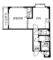 フォルテ石井[2階]の間取り