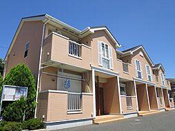 千葉県四街道市鹿放ケ丘の賃貸アパートの外観