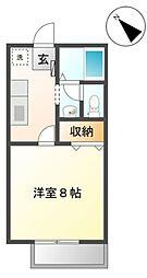 サンハイツタクマ[2階]の間取り