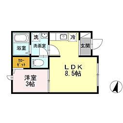 都営三田線 千石駅 徒歩2分の賃貸アパート 1階1LDKの間取り