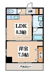 ドゥ・ミル・アン東大阪[4階]の間取り