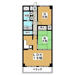 アメニティライフ21[3階]の間取り