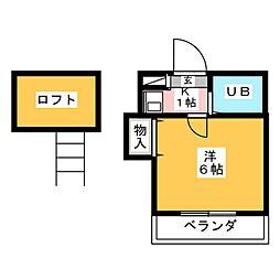 サニーハイム桜[1階]の間取り