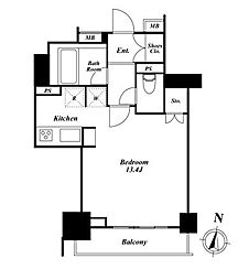 ドゥーエ西麻布II[2階]の間取り