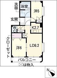 ドリームガーデン[2階]の間取り