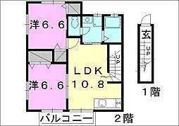 グリーン ガーデン[C-202 号室号室]の間取り