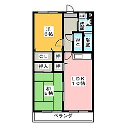 マンション紫雲E[3階]の間取り