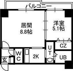 willDo北24条[6階]の間取り