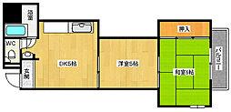 マンションα[1階]の間取り
