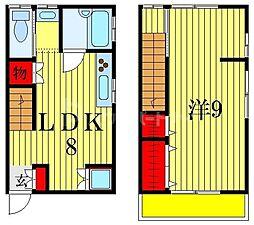 プランタン 2階1LDKの間取り