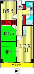 第二千代田マンション[6階]の間取り