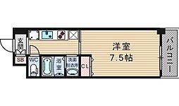 KDXレジデンス難波[6階]の間取り