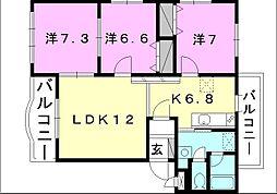 ブライムマンション-1[302 号室号室]の間取り