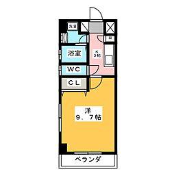 椿山荘[3階]の間取り