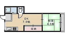 グロー東加賀屋[311号室]の間取り