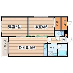 北海道札幌市豊平区平岸七条13丁目の賃貸マンションの間取り