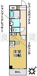 愛知県名古屋市東区矢田東の賃貸マンションの間取り