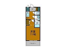 Osaka Metro長堀鶴見緑地線 大正駅 徒歩7分の賃貸マンション 2階1Kの間取り