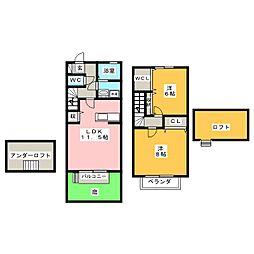 フィオーレB棟[1階]の間取り