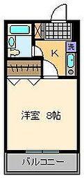 バニーズビル[4階]の間取り