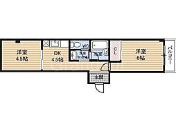 プレアール今福西[3階]の間取り