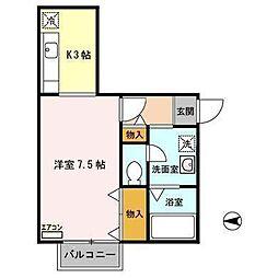 アネックス1[1階]の間取り