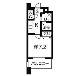 名鉄名古屋本線 名鉄一宮駅 徒歩8分の賃貸マンション 11階1Kの間取り