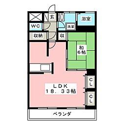 えだのマンション[1階]の間取り