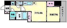 セレニテ桜川駅前プリエ 7階1DKの間取り