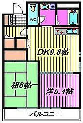 リバーサイドMAKIBA[301号室]の間取り