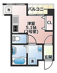 (仮称)船橋市宮本3丁目共同住宅[402号室]の間取り