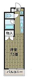 神奈川県相模原市中央区鹿沼台1丁目の賃貸マンションの間取り