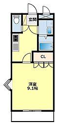 セブンビレッジOZAWA[305号室]の間取り
